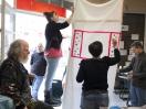 Atelier peinture avec l'artiste Lauren, Olivier des sages. K-fé social. Lyon, 2013