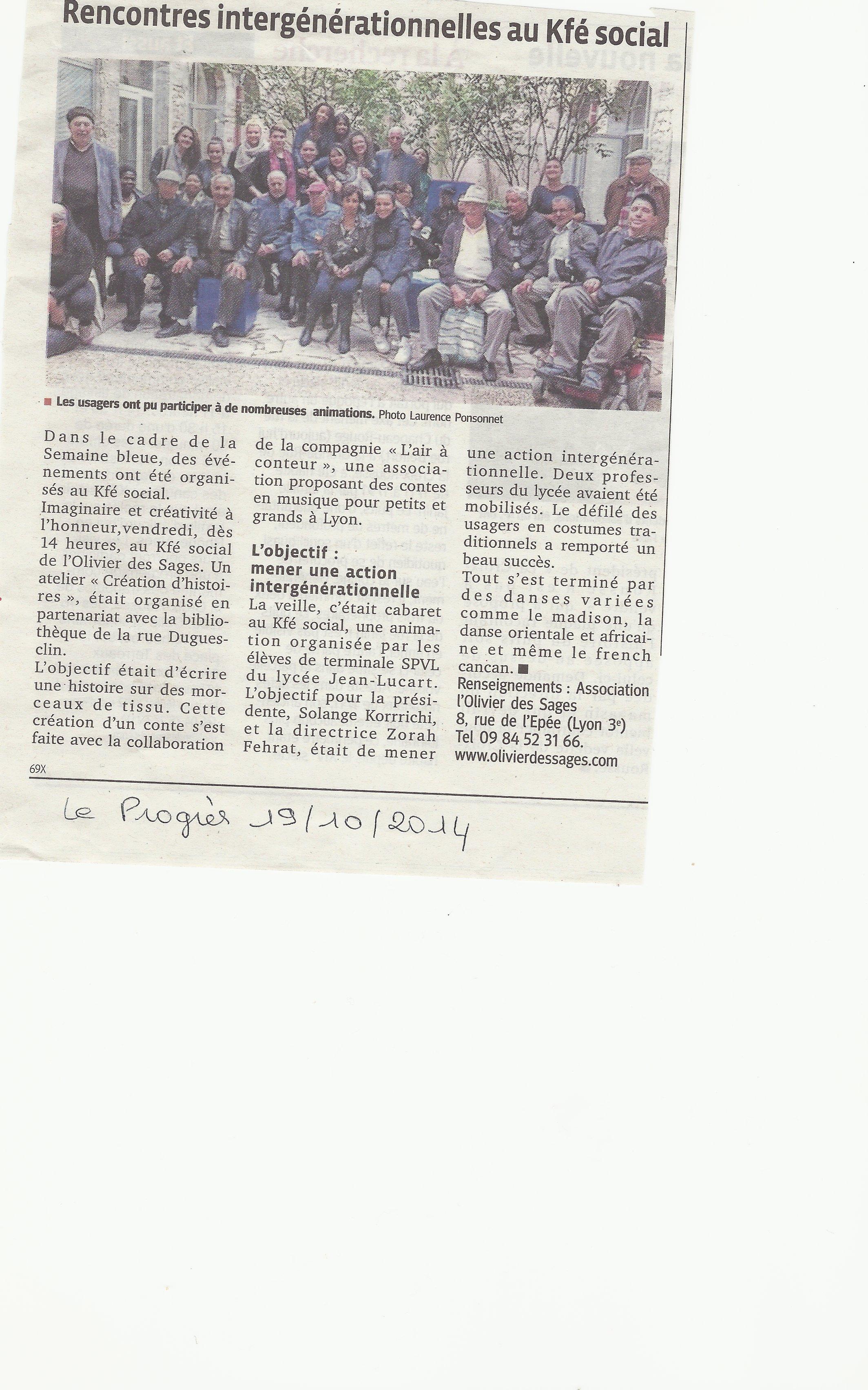 Le Progrès 19.10.2014